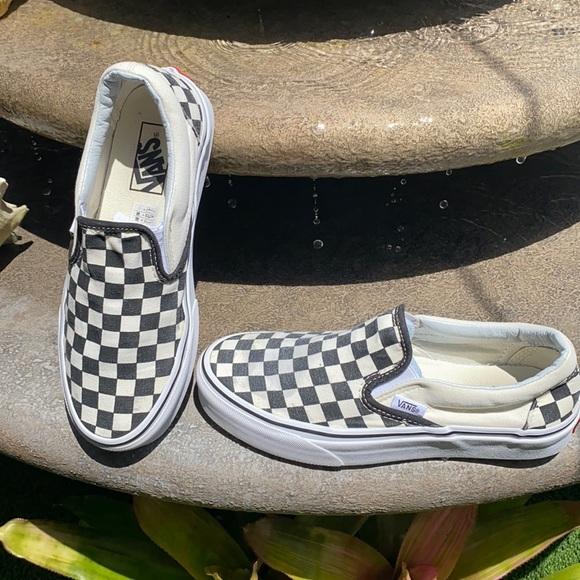 Vans checker board print slip on shoe